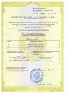 Приложениек свидетельству об аккредитации